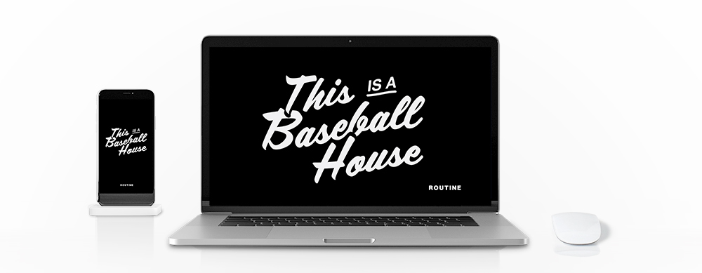 This is a Baseball House Wallpaper