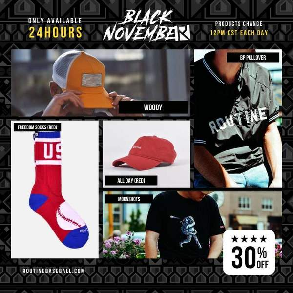routine baseball black november sale day 2