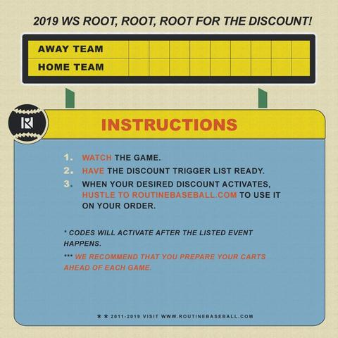 root dfor the discount sale by Routine Baseball