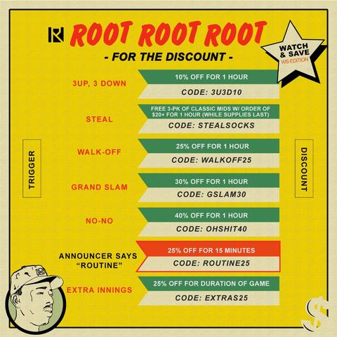Root for the Discount Sale by Routine Baseball