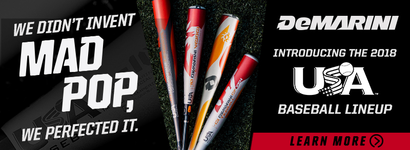 Shop the New USA Baseball approved DeMarini youth bats!