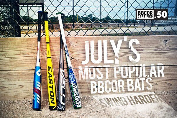 July's Most Popular BBCOR Bats