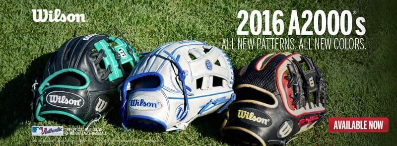 2016 Wilson A2000 Gloves at JustBallGloves.com!