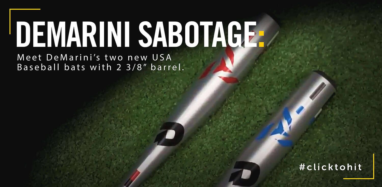 Bat Review: 2019 DeMarini Sabotage USA Baseball Bats