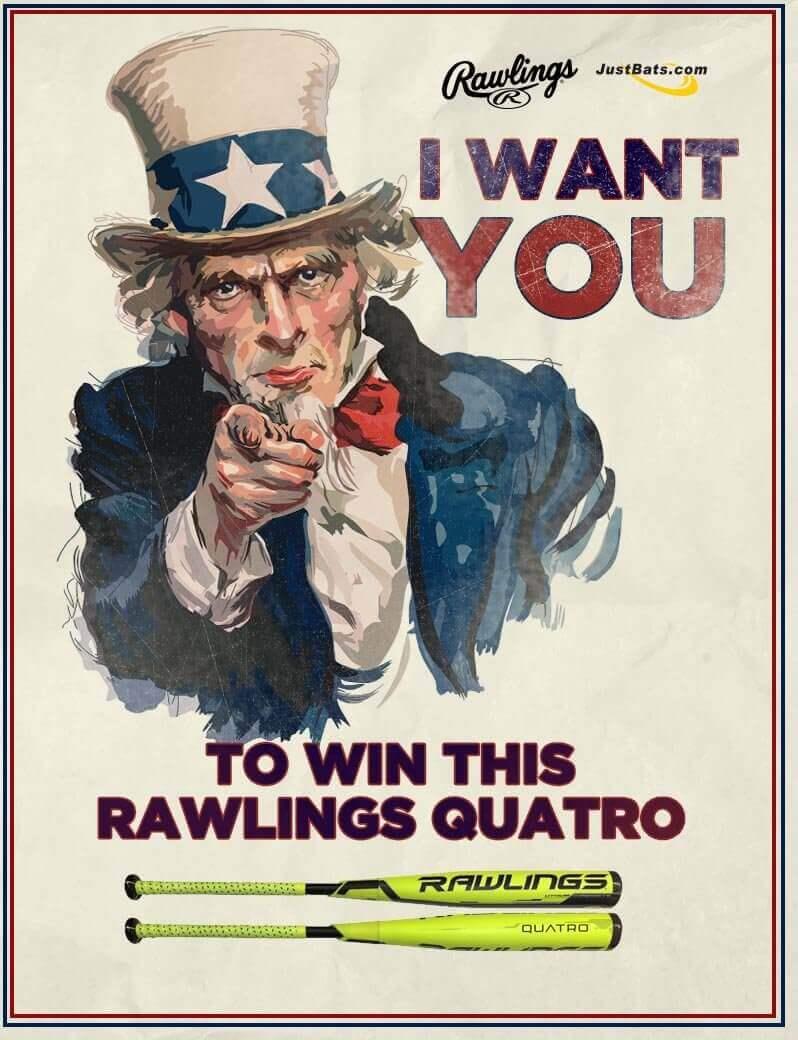 JustBats Rawlings Quatro Giveaway Contest