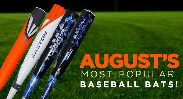 JustBats.com's Most Popular Bats of August