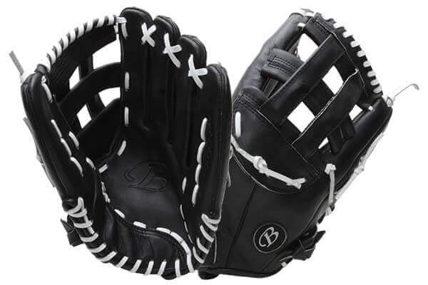 Bass Gloves Big Larry (KBBL Black) at JustBallGloves.com