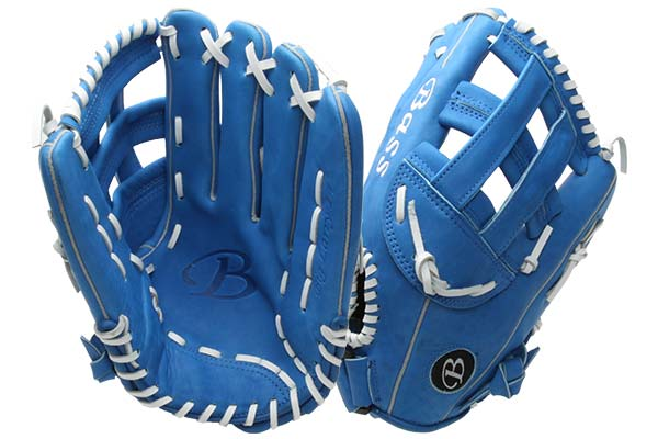 Bass Gloves Big Larry (KBBL Blue) at JustBallGloves.com