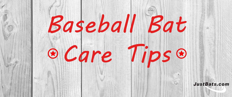 Baseball Bat Care Tips