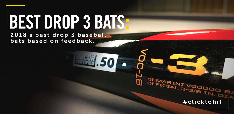 5 Best 2018 Drop 3 Bats