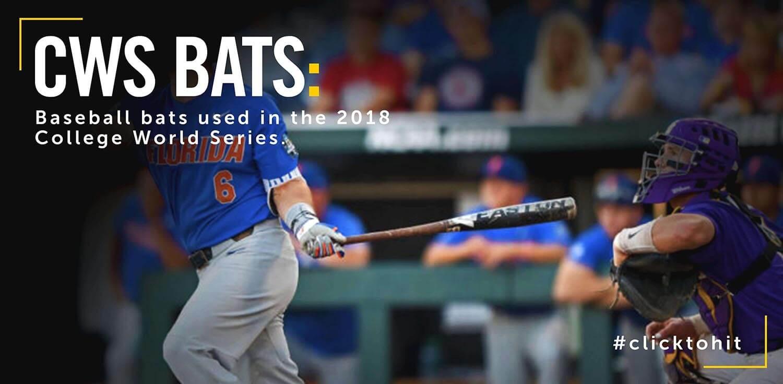 6 Baseball Bats Seen At 2018 College World Series
