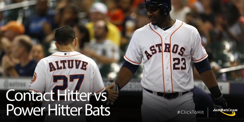 Contact Hitter vs. Power Hitter Bats