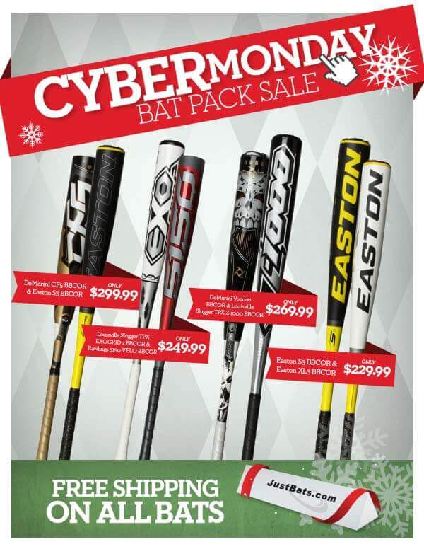 Shop JustBats.com for Incredible Bat Pack Deals on Cyber Monday!