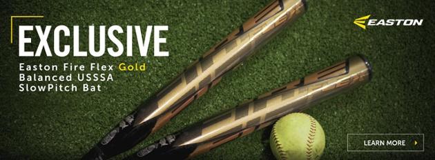 Easton Fire Flex Gold Balanced USSSA Slow Pitch softball bat
