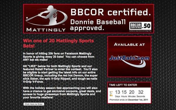 Win one of 20 Mattingly Sports Bats