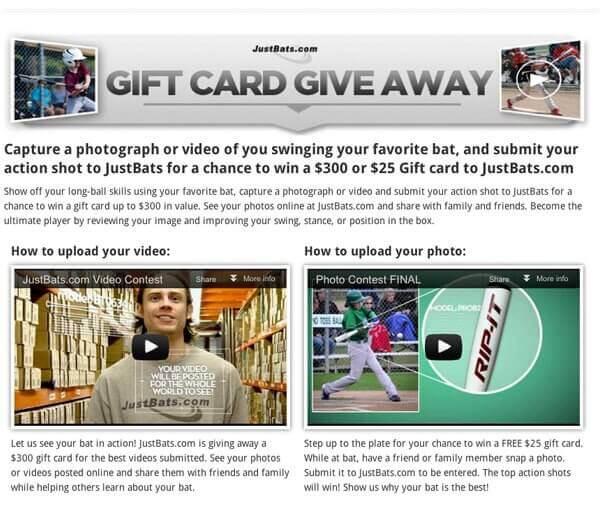 JustBats.com Gift Card Giveaway
