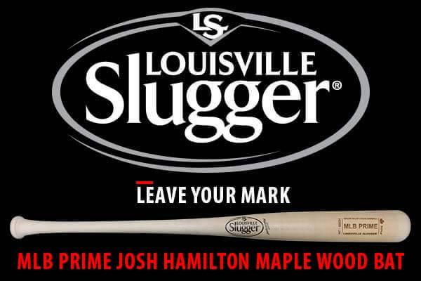 Louisville Slugger MLB Prime Josh Hamilton Maple Wood Bat