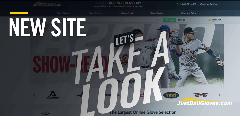 New Just Ball Gloves Website