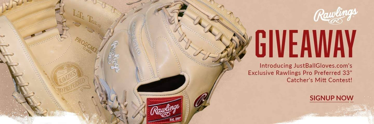 rawlings catchers mitt exclusive giveaway justballgloves