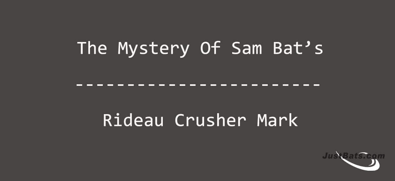 """Why Don't Sam Bat's Say """"Rideau Crusher"""" Anymore?"""