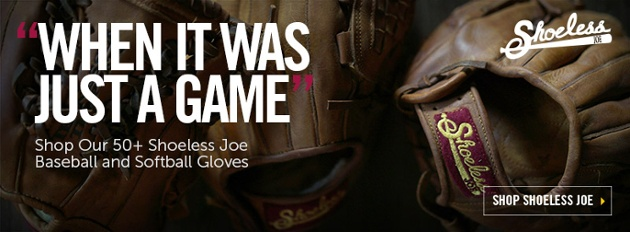 Vintage Softball Gloves and Baseball Gloves from Shoeless Joe