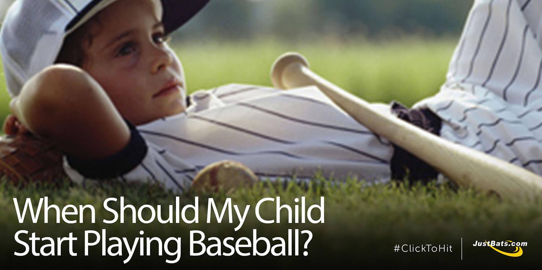 When Should My Child Start Playing Baseball?