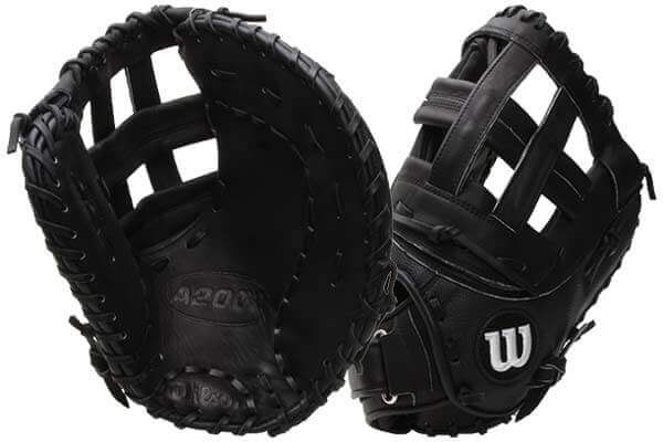 Wilson A2000 SuperSkin Fastpitch First Basemen Mitt FPB14SS at JustBallGloves.com