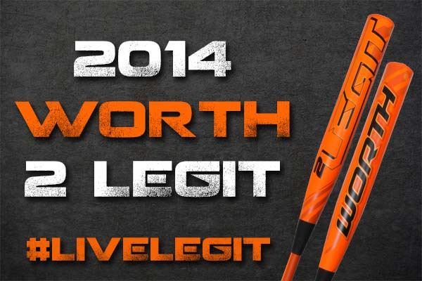 Introducing the New 2014 Worth 2 Legit Fastpitch Bat