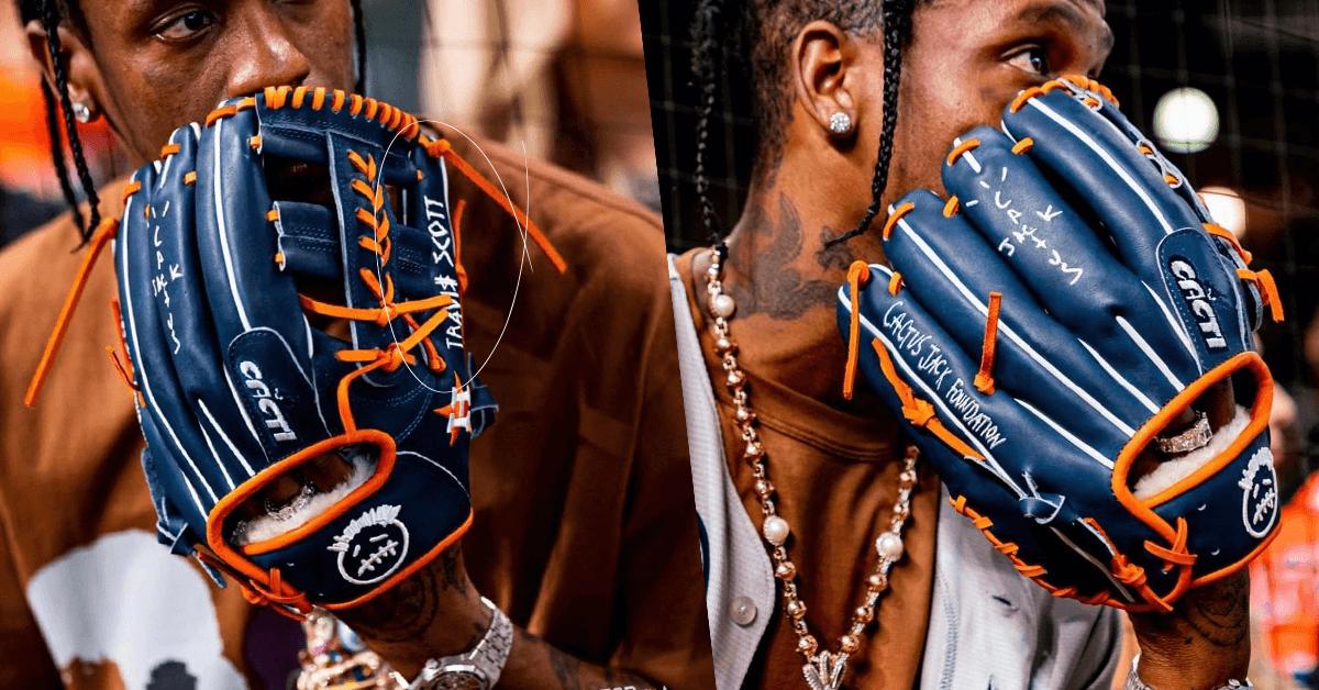 Travis Scott's Cactus Jack x Houston Astros Custom Glove